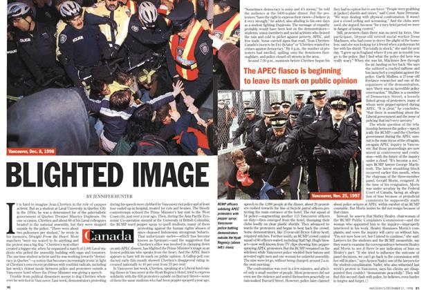 Article Preview: BLIGHTED IMAGE, December 1998 | Maclean's