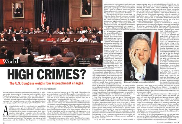 Article Preview: HIGH CRIMES?, December 1998 | Maclean's