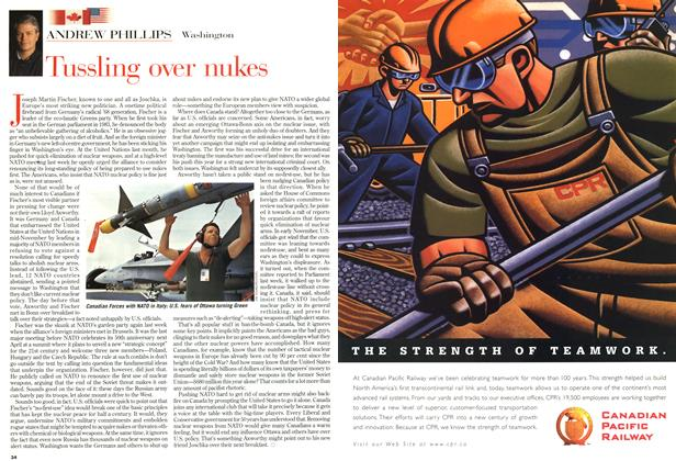 Article Preview: Tussling over nukes, December 1998 | Maclean's