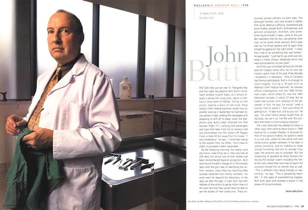 Article Preview: John Butt, December 1998 | Maclean's