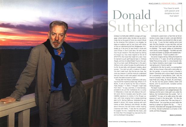 Article Preview: Donald Sutherland, December 1998 | Maclean's