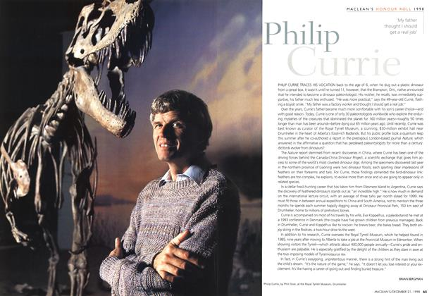Article Preview: Philip Currie, December 1998   Maclean's