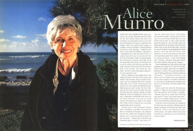 Article Preview: Alice Munro, December 1998 | Maclean's