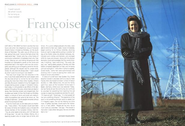 Article Preview: Françoise Girard, December 1998 | Maclean's