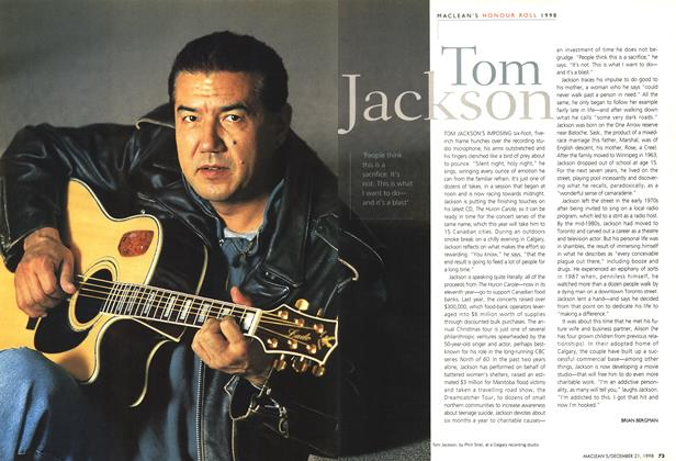 Article Preview: Tom Jackson, December 1998 | Maclean's