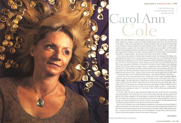 Article Preview: Carol Ann Cole, December 1998 | Maclean's