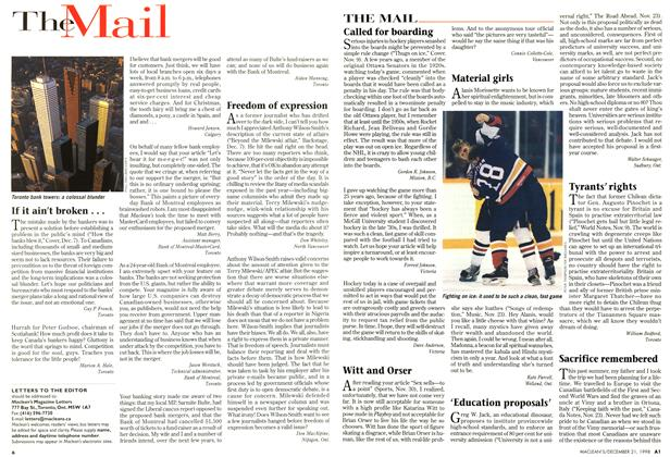 Article Preview: The Mail, December 1998 | Maclean's