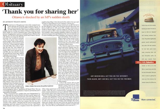 Article Preview: 'Thank you for sharing her', December 1998 | Maclean's