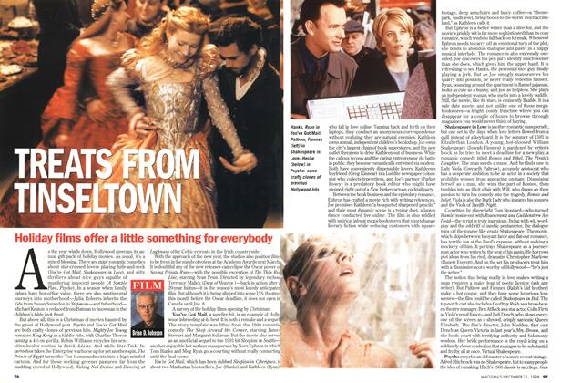 Article Preview: TREATS FROM TINSELTOWN, December 1998 | Maclean's