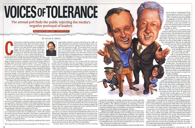 Article Preview: VOICES OF TOLERANCE, DECEMBER 28, 1998 / JANUARY 4, 1999 1998 | Maclean's