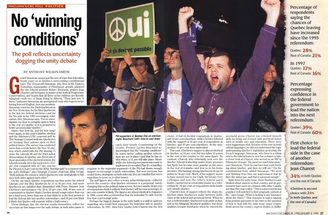 Article Preview: No 'winning conditions', DECEMBER 28, 1998 / JANUARY 4, 1999 1998 | Maclean's