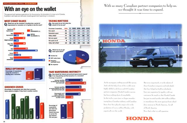 Article Preview: With an eye on the wallet, DECEMBER 28, 1998 / JANUARY 4, 1999 1998 | Maclean's