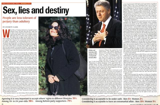 Article Preview: Sex, lies and destiny, DECEMBER 28, 1998 / JANUARY 4, 1999 1998 | Maclean's