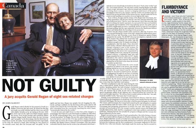 Article Preview: NOT GUILTY, DECEMBER 28, 1998 / JANUARY 4, 1999 1998 | Maclean's