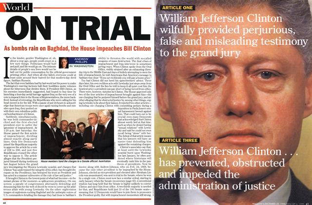 Article Preview: ON TRIAL, DECEMBER 28, 1998 / JANUARY 4, 1999 1998 | Maclean's