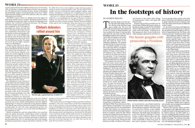 Article Preview: In the footsteps of history, DECEMBER 28, 1998 / JANUARY 4, 1999 1998 | Maclean's