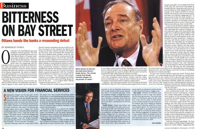 Article Preview: A NEW VISION FOR FINANCIAL SERVICES, DECEMBER 28, 1998 / JANUARY 4, 1999 1998 | Maclean's