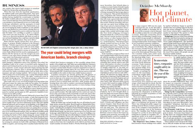 Article Preview: Hot planet, cold climate, DECEMBER 28, 1998 / JANUARY 4, 1999 1998 | Maclean's