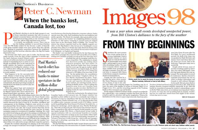 Article Preview: FROM TINY BEGINNINGS, DECEMBER 28, 1998 / JANUARY 4, 1999 1998 | Maclean's