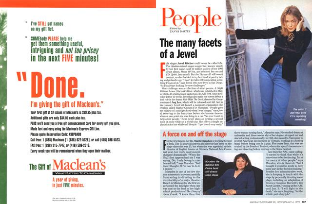 Article Preview: People, DECEMBER 28, 1998 / JANUARY 4, 1999 1998 | Maclean's