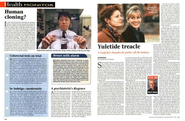 Article Preview: Yuletide treacle, DECEMBER 28, 1998 / JANUARY 4, 1999 1998 | Maclean's