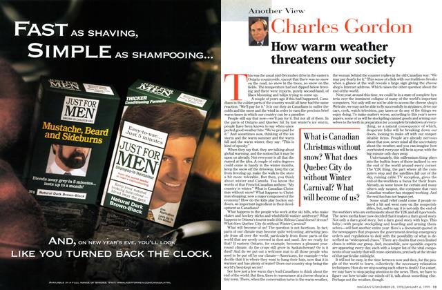 Article Preview: How warm weather threatens our society, DECEMBER 28, 1998 / JANUARY 4, 1999 1998 | Maclean's