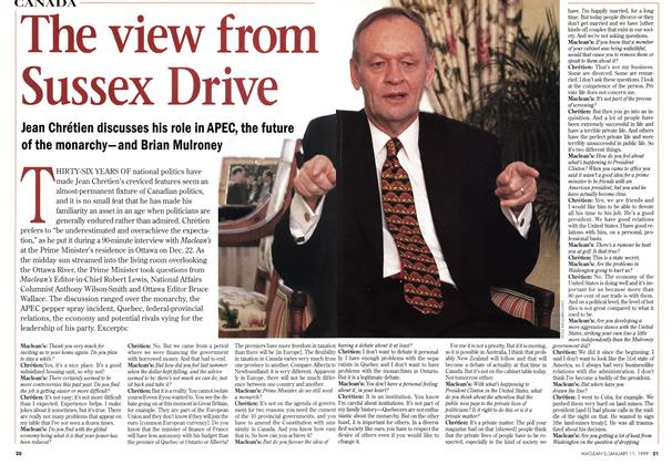 Article Preview: The view from Sussex Drive, January 1999 | Maclean's