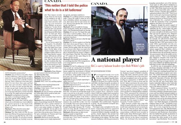 Article Preview: A national player?, January 1999 | Maclean's