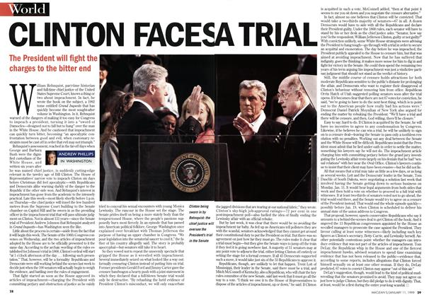 Article Preview: CLINTON FACESA TRIAL, January 1999 | Maclean's