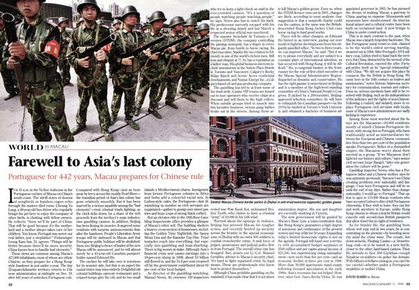Article Preview: Farewell to Asia's last colony, January 1999 | Maclean's