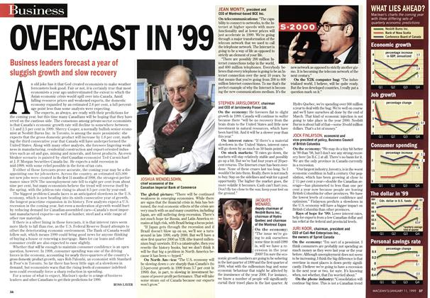 Article Preview: OVERCAST IN '99, January 1999 | Maclean's