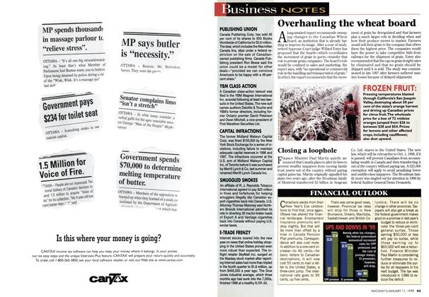 Article Preview: Business NOTES, January 1999 | Maclean's