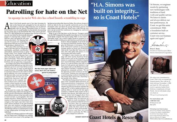 Article Preview: Patrolling for hate on the Net, January 1999 | Maclean's