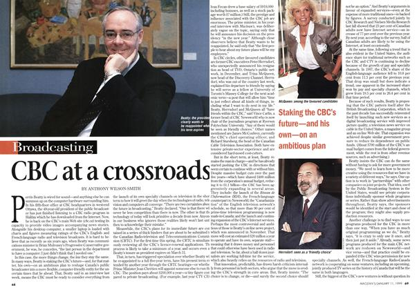 Article Preview: CBC at a crossroads, January 1999 | Maclean's