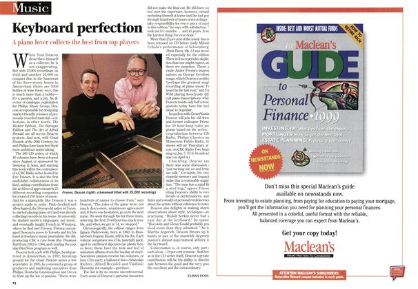 Article Preview: Keyboard perfection, January 1999 | Maclean's