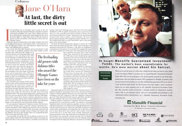 Article Preview: At last, the dirty little secret is out, January 1999 | Maclean's