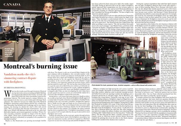 Article Preview: Montreal's burning issue, January 1999   Maclean's