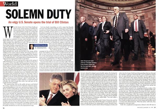 Article Preview: SOLEMN DUTY, January 1999 | Maclean's