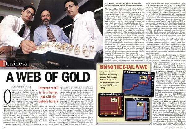 Article Preview: A WEB OF GOLD, January 1999 | Maclean's