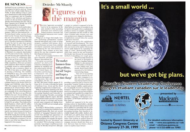 Article Preview: Figures on the margin, January 1999 | Maclean's