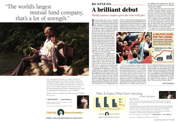 Article Preview: A brilliant debut, January 1999 | Maclean's