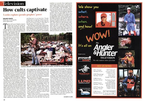 Article Preview: How cults captivate, January 1999 | Maclean's