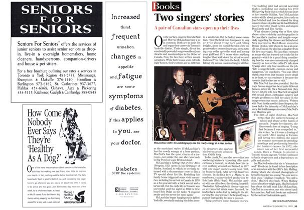 Article Preview: Two singers' stories, January 1999 | Maclean's