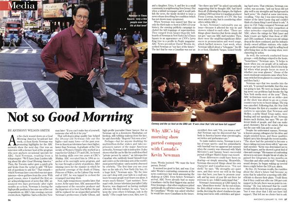 Article Preview: Not so Good Morning, January 1999 | Maclean's
