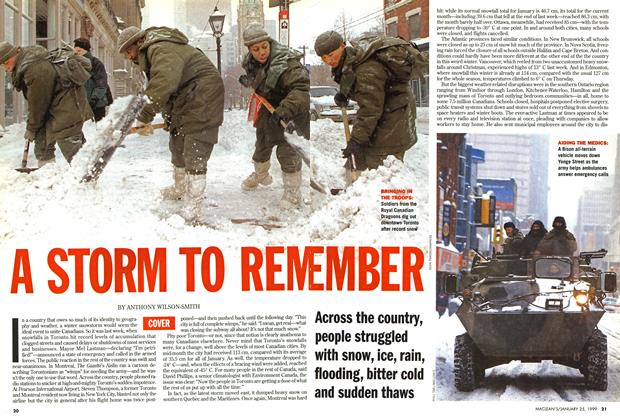 Article Preview: A STORM TO REM EMBER, January 1999 | Maclean's