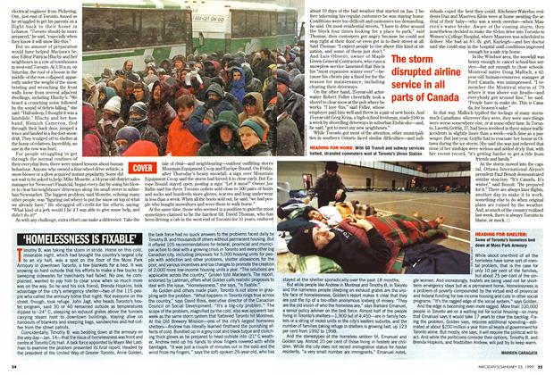 Article Preview: 'HOMELESSNESS IS FIXABLE', January 1999 | Maclean's