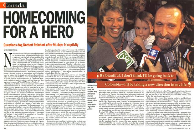 Article Preview: HOMECOMING FOR A HERO, January 1999 | Maclean's
