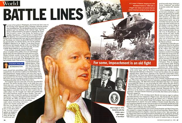 Article Preview: BATTLE LINES, January 1999 | Maclean's