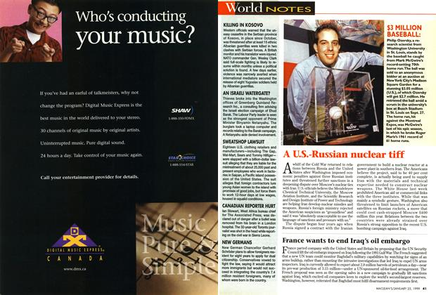 Article Preview: World NOTES, January 1999 | Maclean's
