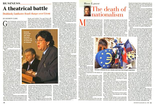Article Preview: A theatrical battle, January 1999 | Maclean's